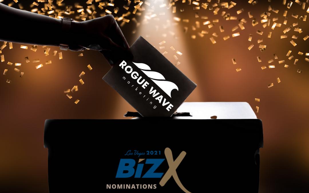 Rogue Wave Marketing Nails Seven BizX 2021 Award Nominations